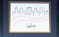 Рисунок Трампа с очертаниями Нью-Йорка выставят на аукцион