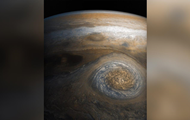 There was a photo of a Small red spot of Jupiter