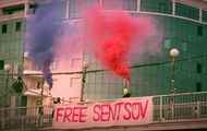 Pussy Riot устроили акцию в поддержку Сенцова