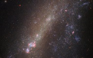 NASA showed in the photo torn galaxy