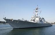 Авария с эсминцем США: пропали десять моряков
