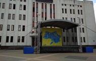 У Броварах повісили карту України без Криму