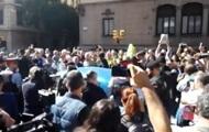 Жители Барселоны митингуют против обысков в Минэкономики