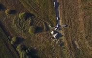 Место падения самолета под Хмельницким сняли с воздуха