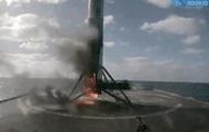 Media: Rocket Falcon caught fire during landing