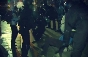 Видео зачистки Евромайдана в Киеве