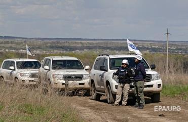 ОБСЕ: Возле Горловки на мине подорвался грузовик