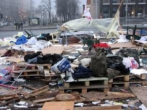 В милиции назвали виновных в погроме палаточного городка в центре Киева