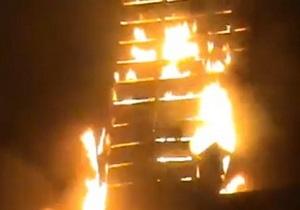 Масштабный пожар на Шулявке. Видеорепортаж очевидца