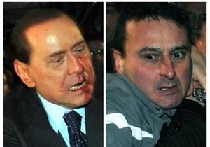 В Италии начался суд над миланцем, напавшим на Берлускони