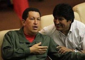 Чавес назвал Обаму  Нобелевским лауреатом премии войны . Моралес пообещал  второй Вьетнам