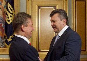 Янукович провел встречу с главой Газпрома