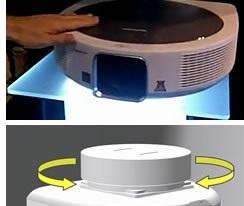 Компания Sharp представила мощные 3D проекторы XG-SV100V и XG-SV200X с программируемой вращающейся потолочной док-станцией.