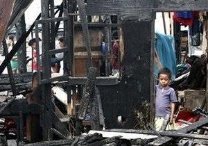 Крупный пожар на Филиппинах уничтожил 500 домов