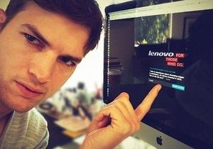 Cыгравший Стива Джобса актер стал лицом рекламной кампании китайских компьютеров - lenovo - эштон кутчер