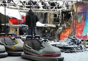 В Одессе ночью горели аттракционы: погиб мужчина