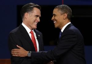 Перед заключительными дебатами рейтинги Обамы и Ромни сравнялись