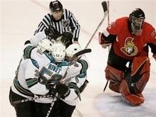 NHL: Акулы одолели Сенаторов