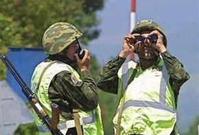 Российские пограничники вышли на границу Южной Осетии и Грузии