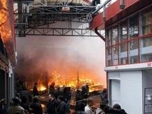 В Харькове загорелся рынок Барабашово