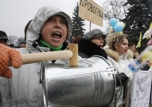 Предприниматели перекрыли движение в центре Киева