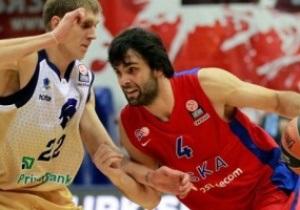 Будивельник проиграл московскому ЦСКА матч Евролиги