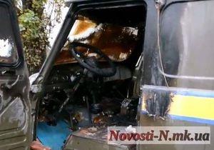В Николаеве во время движения загорелся автомобиль Укрпочты