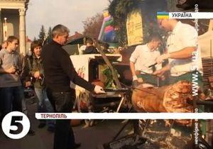 В Тернополе прошел кулинарный фестиваль Галицкая дефиляда