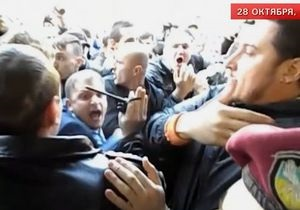 В Киеве нардепы от оппозиции штурмовали здание МВД