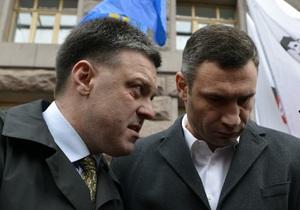 Тягнибок отреагировал на заявление Кличко о президентских амбициях