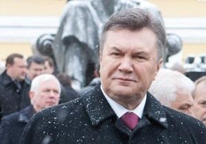 Янукович заверяет, что Украина начала реализацию масштабных инфраструктурных проектов