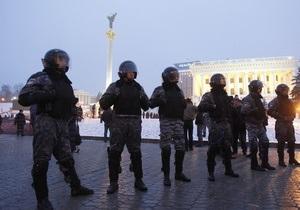 На киевском Майдане дежурят полсотни правоохранителей