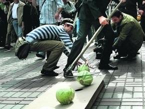 В центре Киева прошел парад флеш-мобов