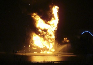 В Огайо молния уничтожила 25-метровую статую Иисуса Христа