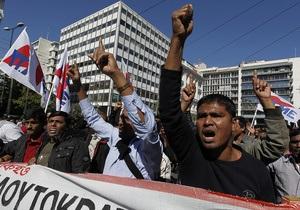 В Греции на демонстрации вышло рекордное число людей