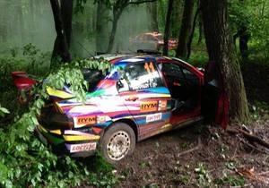 Экипаж депутата-регионала попал в аварию на ралли во Львовской области