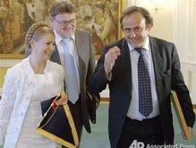 ВН: Тимошенко на футбольном поле