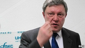 Русская служба Би-би-си: Снятие Явлинского - удар по Путину?