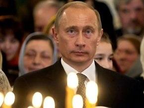 Путин побывал в монастыре