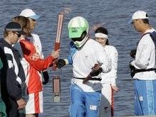 Олимпийский огонь дважды погас в Австралии