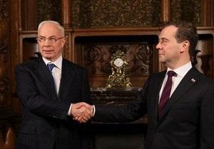 Азаров и Медведев обсудили газовый вопрос и утилизационный сбор на авто
