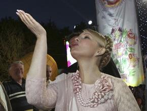 На Волыни Тимошенко подарили икону Святой Варвары