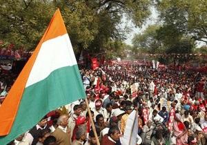 В Индии на акцию протеста вышли сто тысяч человек