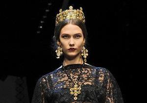 Фотогалерея: Византийские принцессы. Показ Dolce&Gabbana в Милане