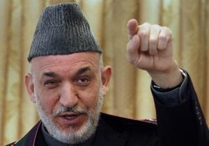 Карзай: Партнерство Афганистана и Индии не направлено против Пакистана