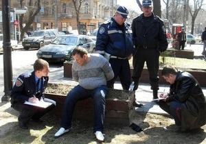 Погоня в центре Одессы закончилась стрельбой и аварией