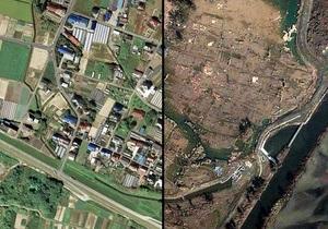 Японские города до и после землетрясения
