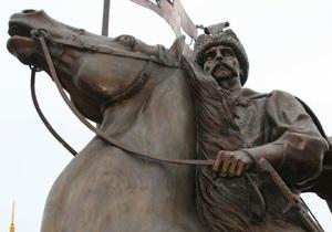 В Сумской области на деньги Ющенко открыли памятник последнему кошевому атаману Сечи