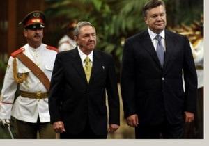 В Гаване состоялась официальная встреча Виктора Януковича и Рауля Кастро