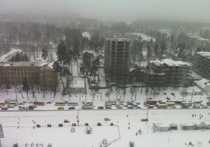 новости киева - пробки - ситуация на дорогах - В борьбе со снежной стихией: на столичных дорогах четырехбальные пробки